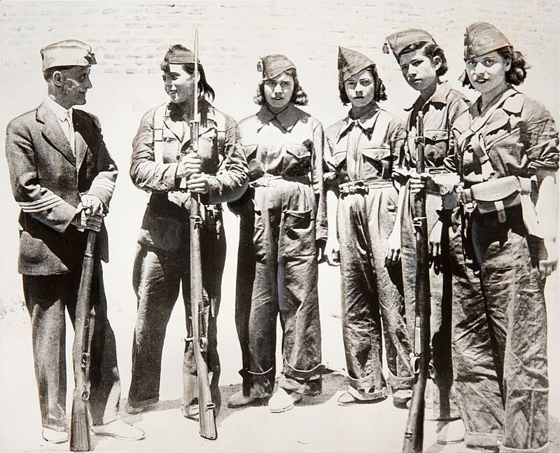 Soldiers at the start of the Spanish Civil War